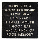 Wooden Friendship Plaque