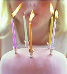 Crown Party Cake Candle Holders - cake decoration
