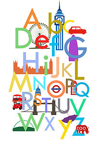 Children's London Alphabet Print - gifts under £25