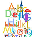 Children's London Alphabet Print