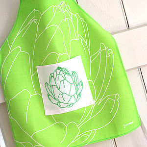 Children's Embroidered Artichoke Apron