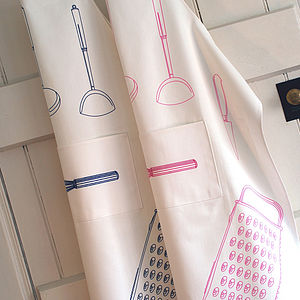 Adult's Unisex Embroidered Whisk Apron - aprons