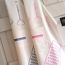 Adult's Utensils Apron With Embroidered Whisk