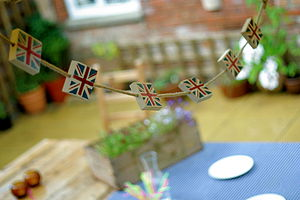 Small Union Jack Bunting Blocks - outdoor decorations