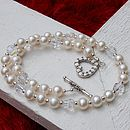White freshwater pearl necklace 6