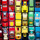 Children's Toy Cars Rainbow Print