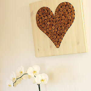 Champagne Corks 'Love Heart' Wall Hanging - noticeboards