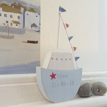 Personalised Chunky Fishing Boat