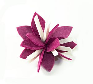 Iris Flower Felt Brooch