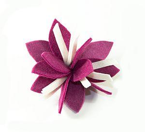 Iris Flower Felt Brooch