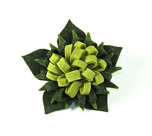 Columbine Flower felt Brooch