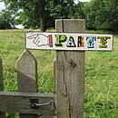 Metal Party Sign