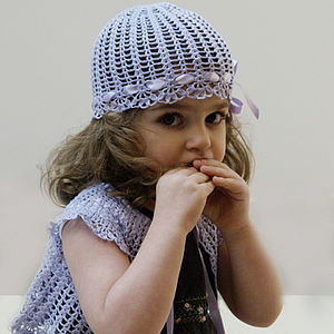 Hat, Booties & Cardigan/Bib Set:Girls - hats, scarves & gloves
