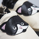 'Purrfect' Soft Leather Baby Shoes