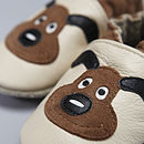 'Puppy Love' Soft Leather Baby Shoes