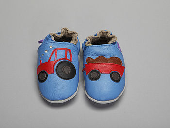 'Young Farmers' Soft Leather Baby Shoes