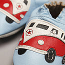'Classic Campers' Soft Leather Baby Shoes