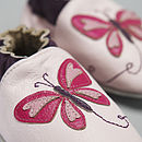 Pink Butterfly Soft Leather Baby Shoes
