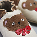 Teddy Bears Soft Leather Baby Shoes