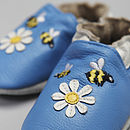 Busy Bees Soft Leather Baby Shoes