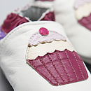 Cupcakes Soft Leather Baby Shoes