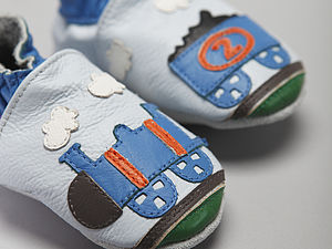 'All Aboard' Soft Leather Baby Shoes