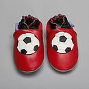 'Footy Star' Soft Leather Baby Shoes