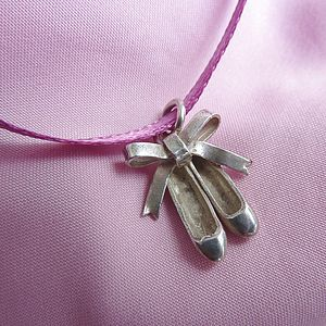 Silver Ballet Shoes Charm - charm jewellery
