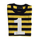 Number '1' T-shirt Yellow & Navy