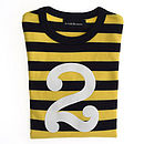 Number '2' T-shirt Yellow & Navy