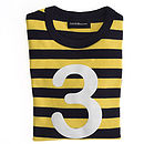 Number '3' T-shirt Yellow & Navy