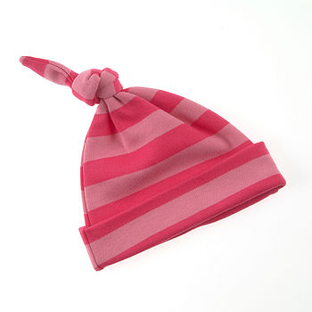 Striped Hat Bright Pink & Hot Pink