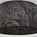 black and silver travertine pattern