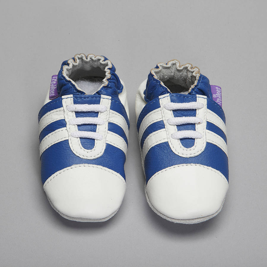 sporty trainer soft leather baby shoes by pre shoes