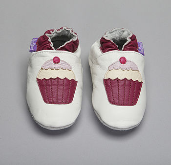 'Cup Cakes' Soft Leather Baby Shoes