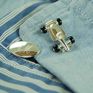 Racing Car Cufflinks - cufflinks