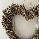 Wicker heart detail