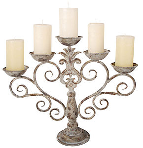 Vintage style metal candelabra - candles & candlesticks
