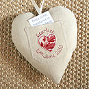 personalised tooth fairy pocket heart back, cream