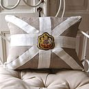Union Jack Cushion with Badge