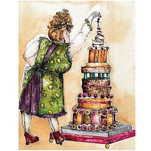 'Chocolate Cake Recipe' Greetings Card