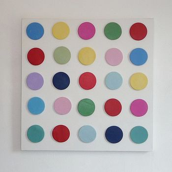 Large Polka Dotty 3D Canvas