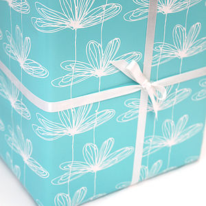 Etched Floral Gift Wrap - wrapping paper