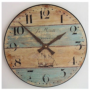 Driftwood Style Clock - living room