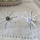 Sun star stud earrings