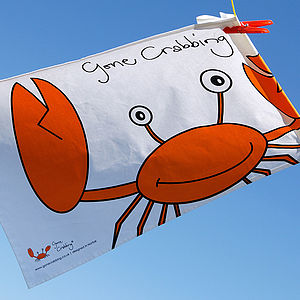'Gone Crabbing' Tea Towel - tea towels