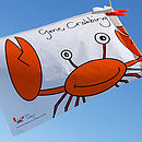 'Gone Crabbing' Tea Towel