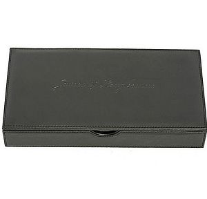 Full Grain Leather Cufflink And Accessories Box