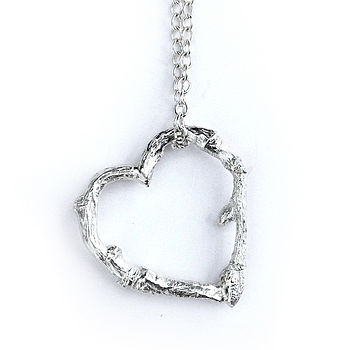 Love nature, twig heart pendant