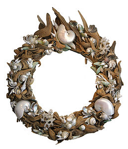 Driftwood And Exotic Shell Mirror Sold